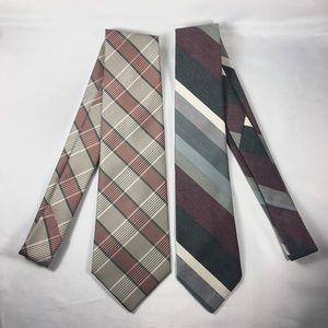 2 Johnny Carson Men's Neckties